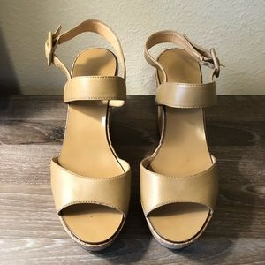 Nude JCREW wedges
